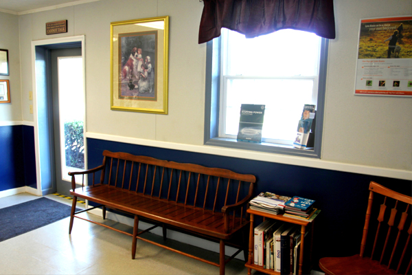 Bright room at Blue Ridge Animal Hospital
